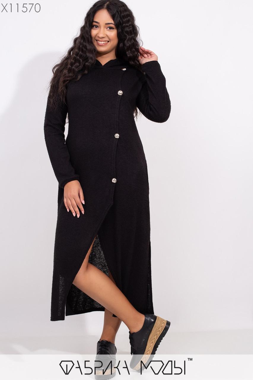 Ангоровое платье в больших размерах длиной миди 1blr243