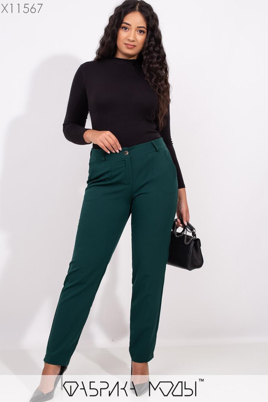 Женские классические брюки в больших размерах зауженные 1blr253