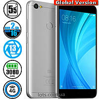 Смартфон Xiaomi Redmi Note 5A 2/16Gb Grey MIUI 10 (Сертифицирован в Украине UCRF) + Стекло в подарок