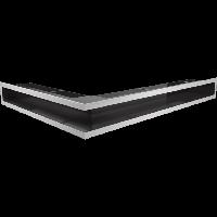Решетка LUFT SF шлифованная сталь угловая правая 54,7*76,6*9, фото 1