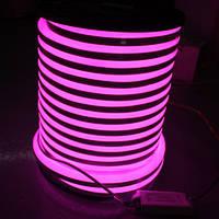 Уличный световой шнур Lumion 220V SUPER SMD NEON FLEX 8*16мм, 92 светодиода/м.п., 50м/ рул цвет розовый