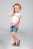 Детская футболка для девочки Одежда для девочек 0-2 Pezzo D'oro Италия M53014 Белый