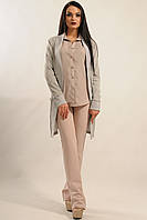 Удобный теплый серый меланж женский кардиган RiMari Софт 44