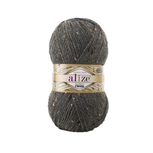 ALPACA ROYAL TWEED серый меланж 196 - 15% альпака, 15% шерсть, 5% вискоза, 65% акрил