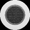 Решетка круглая белая 125