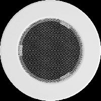 Решетка круглая белая 100, фото 1