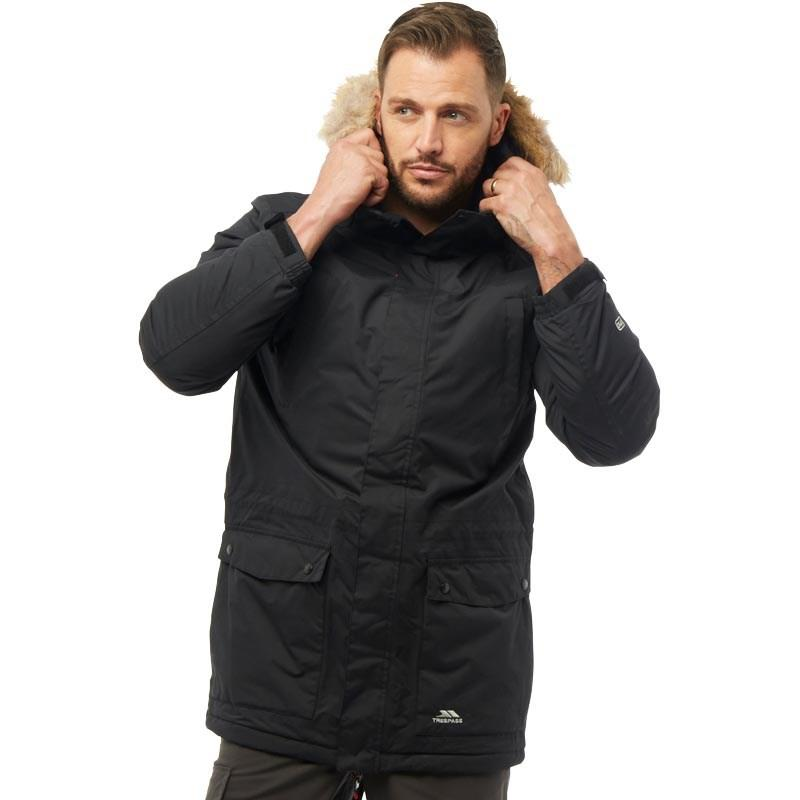 Мужская водонепроницаемая куртка парка Trespass Jaydin Insulated Waterproof Parka черная оригинал