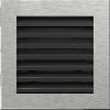 Решетка FRESH шлифованная сталь 17*17