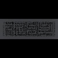 Решетка ABC графитовая 17*49, фото 1