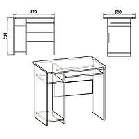 Стол компьют. СКМ-12 махонь (Компанит)