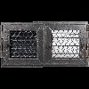 Решетка RETRO графитовая 22 две дверцы
