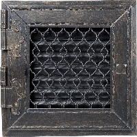 Решетка RETRO графитовая 22*22 одни дверцы