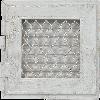 Решетка RETRO белая 17*17 одни дверцы