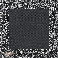 Решетка VENUS черно-серебристая 17*17 с кристаллами Swarovski