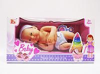 Лялька пупс новонароджений Plays 15 см з аксесуарами