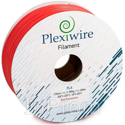 PLA пластик для 3D принтера 1.75мм красный флуоресцентный (400м / 1.185кг), фото 2