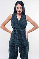 Модный легкий женский пиджак-жилет изумрудного цвета RiMari Кэрри 42, 44, 46, 48, 50, 52
