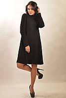 Теплое черное вязанное платье-трапеция RiMari Аква-Зима 42, 44