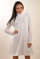 Теплоебелое вязанное платье-трапеция RiMari Аква-Зима 42, 44