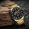 Механические часы с автоподзаводом Forsining (gold-black) - гарантия 12 месяцев, фото 4