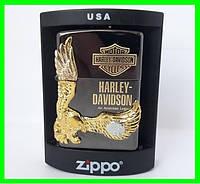 Зажигалка ZIPPO Бензиновая (Harley - Devidson Black)
