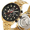 Механические часы с автоподзаводом Forsining (gold-black) - гарантия 12 месяцев, фото 6