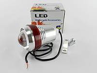 Фара дополнительная LED линза (с креплением на руль/дуги) TVR