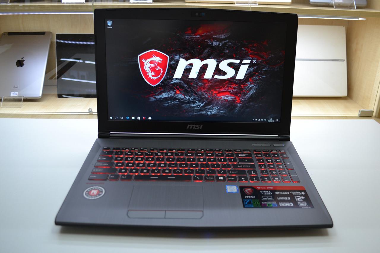 Новый Ноутбук MSI GF62 7RE 2025 Intel i7-7700HQ 2.8GHz 16GB DDR4 1TB HDD Win 10 Оригинал!