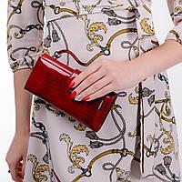 Кошелек женский кожаный лаковый Kafa с RFID защитой (AE031 red fb)