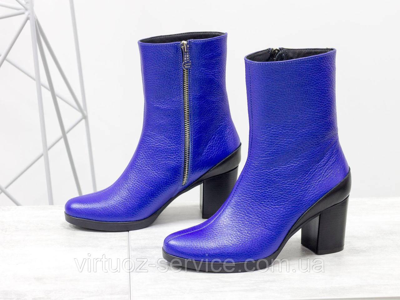 Ботинки женские Gino Figini Б-17456/2-02 из натуральной кожи 37 Синий