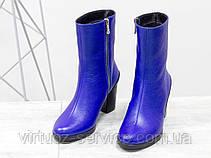 Ботинки женские Gino Figini Б-17456/2-02 из натуральной кожи 37 Синий, фото 2