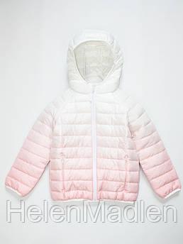Куртка демисезонная Marks & Spencer для девочки бело-розовая