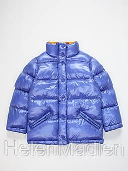 Куртка зимняя Mixture Италия для девочки синяя 7-9 лет