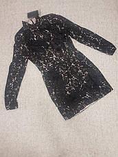 Распродажа! XXL XS Ажурное фирменное черное платье Missguided с белой подкладкой, фото 3