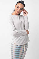 Серый хлопковый женский свитер с люрексом RiMari Дейнерис 42-44, 46-48, 50-52