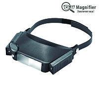 Лупа бинокулярная 1.5X 3X 6.5X 8X с подсветкой Magnifier 81007
