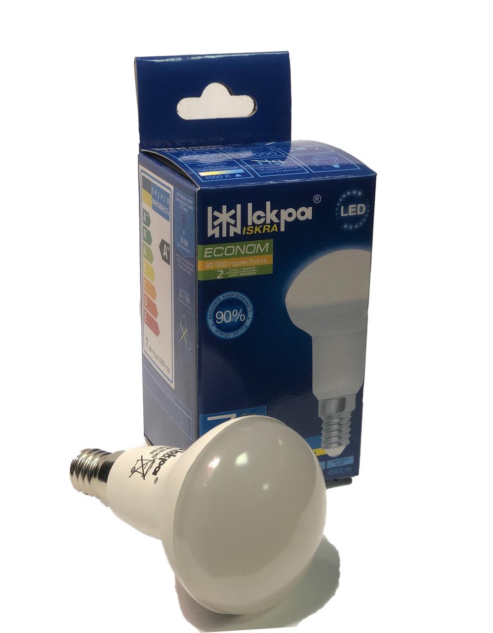 Светодиодная рефлекторная лампа LED (R50) 5Вт Природно-белый 220B, E14