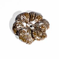 Фигурка цветок из горчичной яшмы, 493ФГЯ, фото 1
