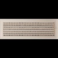 Решетка Oskar кремовая 17*49 (крашеная) жалюзи, фото 1