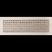 Решетка кремовая 17*49 (крашеная) жалюзи, фото 1