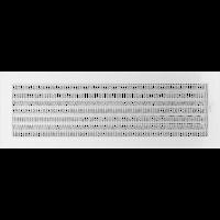 Решетка белая 17*49 (крашеная) жалюзи, фото 1