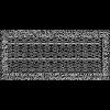Решетка Oskar черно-серебряная 17*37 (крашеная) жалюзи