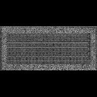 Решетка Oskar черно-серебряная 17*37 (крашеная) жалюзи, фото 1