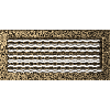 Решетка черно-золотая 17*37 (крашеная) жалюзи