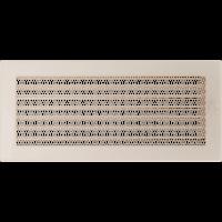 Решетка кремовая 17*37 (крашеная) жалюзи, фото 1