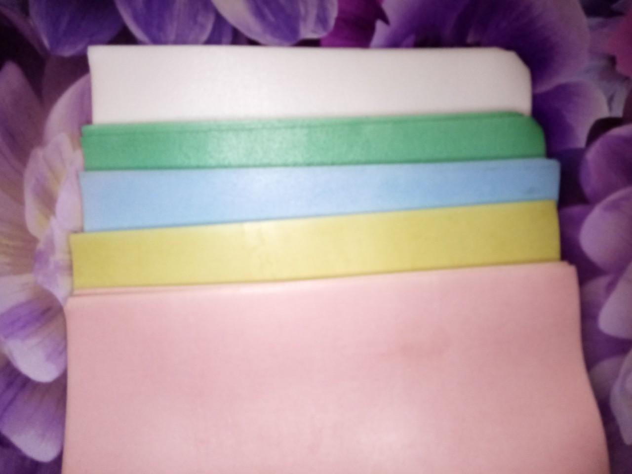 Тонкий кольоровий вафельний папір