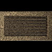 Решетка черно-золотая 17*30 (крашеная) жалюзи, фото 1