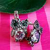 Сережки Сови срібло - Срібні сережки Сова, фото 2