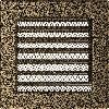 Решетка черно-золотая 17*17 (крашеная) жалюзи