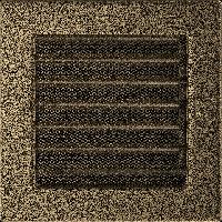 Решетка черно-золотая 17*17 (крашеная) жалюзи, фото 1